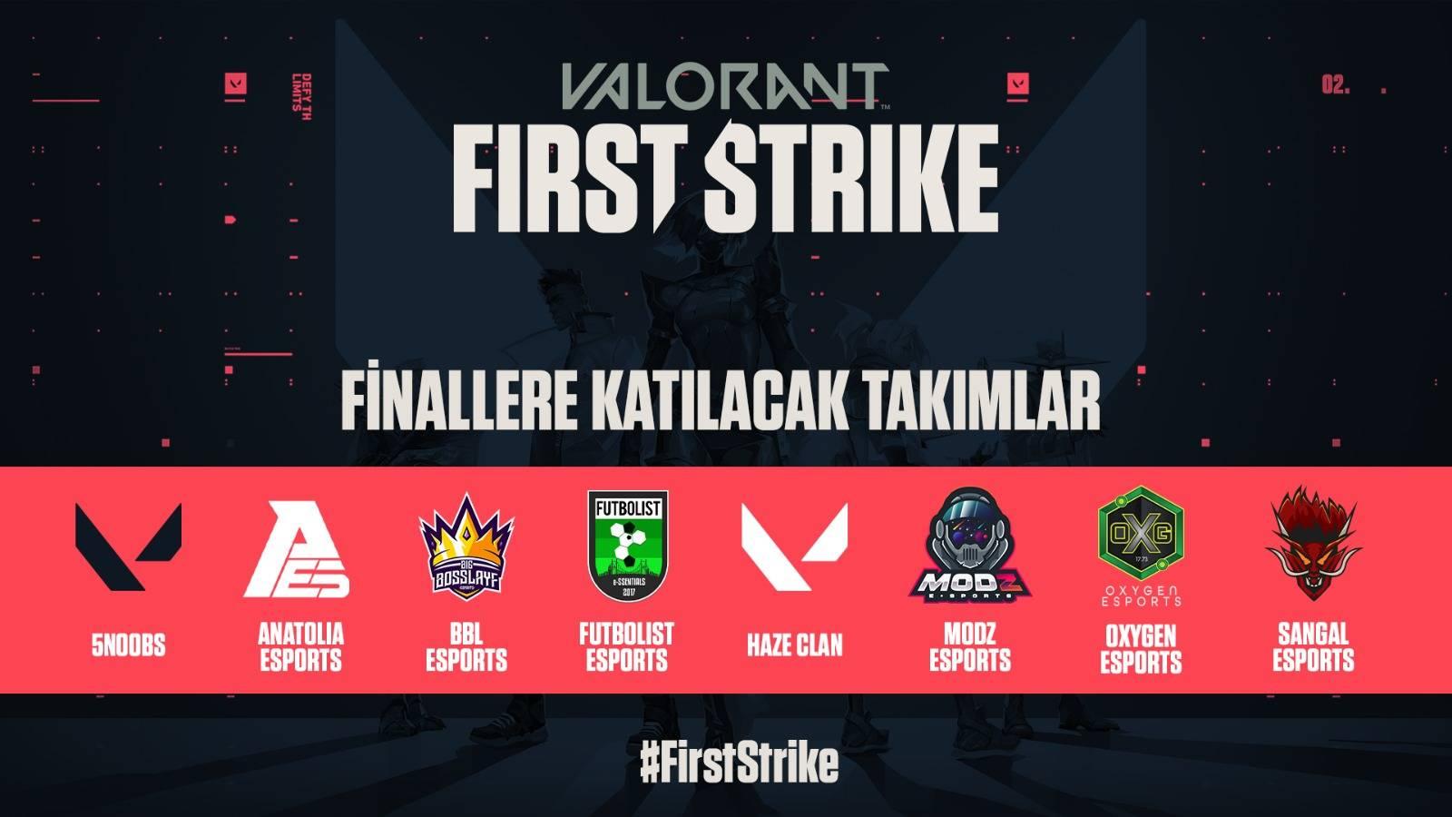 valorant first strike turkiye finallerdeki ilk eslesmeler